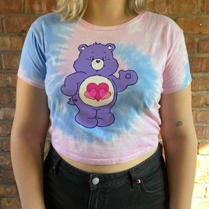 Dollskill x Care Bears Tie-dye cropped t-shirt